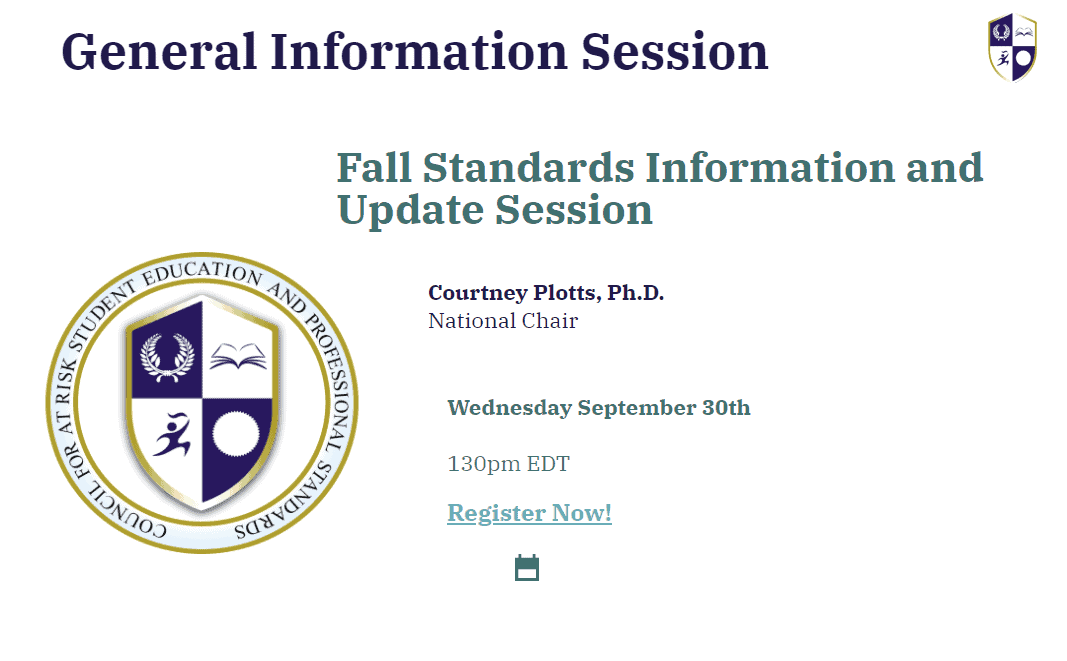 General Information Session and Fall Standards Update